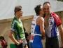 ale hned gratuluje Martinovi k úspěšnému dokončení závodu  jeho prvního triatlonu!