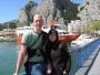 Davouš s Evou na mostě přes řeku Cetinu - Omiš